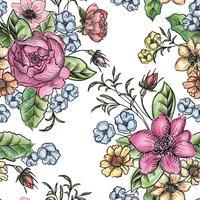 Floral fond sans couture. Motif de fleurs. vecteur