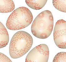 Les oeufs de Pâques signent un modèle sans couture. Fond de carte de voeux de Pâques