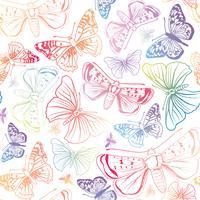 Modèle sans couture de papillon. Fond floral de vacances été faune