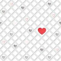 Amour coeur modèle sans couture Valentine jour vacances géométrique ornement vecteur