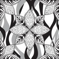 Floral pattern sans soudure. Ornement linéaire. Abstrait vecteur