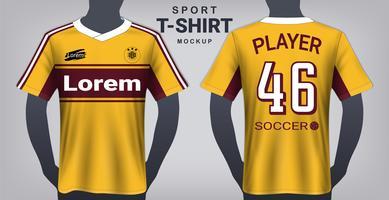Modèle de maquette de maillot de football et de sport. vecteur