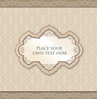 Cadre floral calligraphique. Élément de décor de page. Bordure de carte