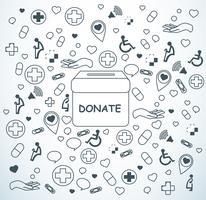 faire un don, la charité pour vecteur de fond médical et de la santé