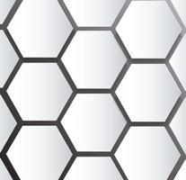 abeille abstrait ruche hexagone et fond de l'espace vecteur