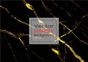 Marbre doré, Modèle vectoriel avec texture dorée sur fond noir et noir.