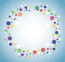 Abstrait coloré cercle rond vecteur