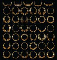collection de couronnes de laurier vecteur