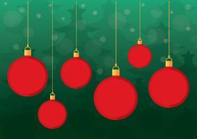 Vecteur de fond de boules de Noël