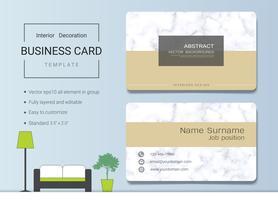 Modèle de carte de nom commercial pour architecte d'intérieur.