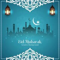 Abstrait Eid Mubarak festival salutation fond vecteur