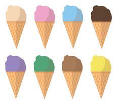 vecteur de dessin animé de crème glacée pastel