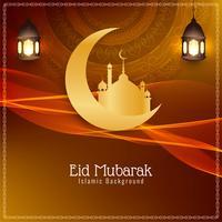 Design de fond abstrait festival Eid Mubarak vecteur