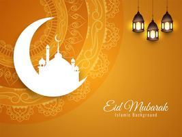 Abstrait islamique Eid Mubarak vecteur