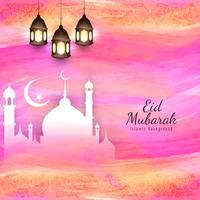 Résumé Eid Mubarak Fond islamique vecteur