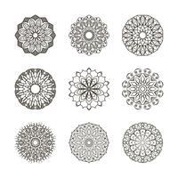 Collection de mandalas simples