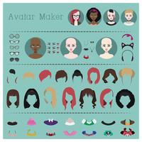 Femme avatar maker vecteur