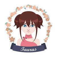 Illustration du signe du zodiaque - Taureau