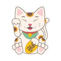 Illustration de dessin animé mignon Manekineko