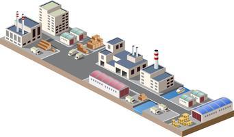 Ilustration industrielle vecteur