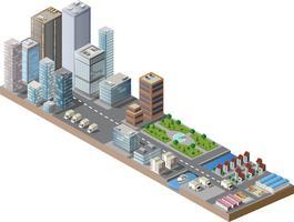 isométrique du centre-ville vecteur