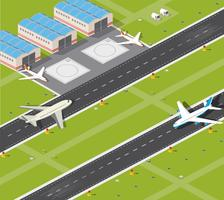 Aéroport vecteur