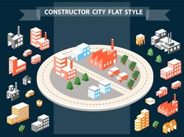 Constructeur urbain vecteur