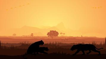 Silhouette de lion