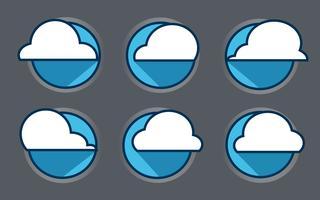 Nuage icône vecteur, illustration vectorielle. Style design plat