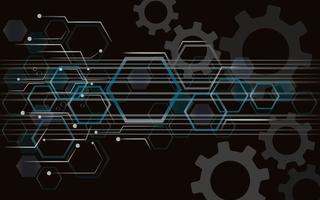 Gear and Technology espace abstrait de la ligne vecteur