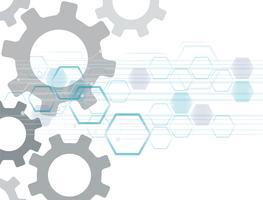 Gear and Technology espace abstrait de la ligne