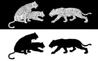 Silhouette de guépard vecteur