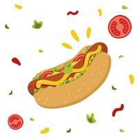 Vecteur de hot-dog