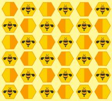 abeille ruche fond de bande dessinée pastel