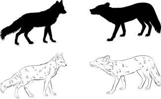 Silhouette de loup vecteur