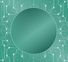 ligne de technologie et fond de cercle espace moyen vecteur