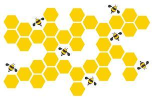hexagone abeille design art et espace fond vecteur EPS10