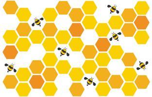 hexagone abeille design art et espace fond