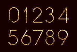 Numéros de police de mode doré