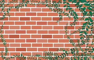 Planter des boutons de marguerite mexicaine sur le mur de briques et de l'espace vecteur de l'art de fond