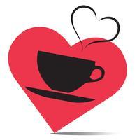 l'amour de boisson chaude, vecteur de tasse à café