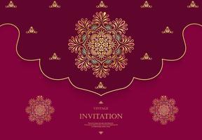 Style vintage carte de mariage ou d'invitation avec fond abstrait cristaux vecteur