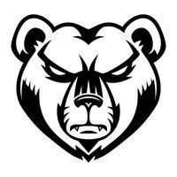 Ours en colère vecteur