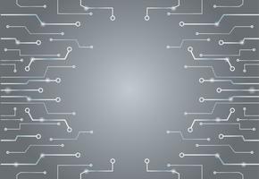 Abstrait technologie gris lignes art fond et espace vecteur