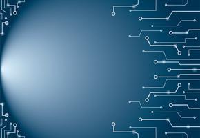 Technologie abstraite bleue lignes art de fond et de l'espace vecteur