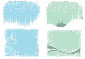 Pack vectoriel de papier peint Noël et hiver