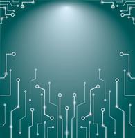 Technologie abstraite lignes art et espace de fond vecteur