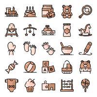 Pack d'icônes de douche de bébé