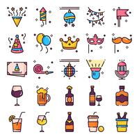 Party Icons Pack vecteur