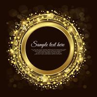 Cercle d'or fond vecteur abstrait